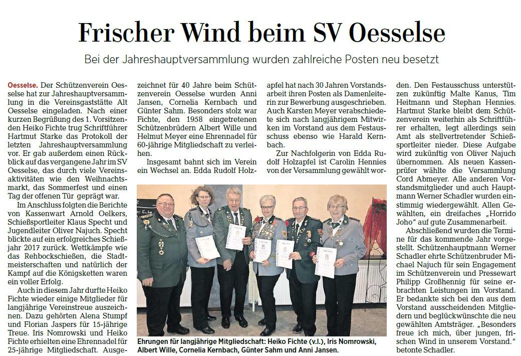 Artikel aus dem Landkreisteil der Leine Nachrichten vom 14. Februar