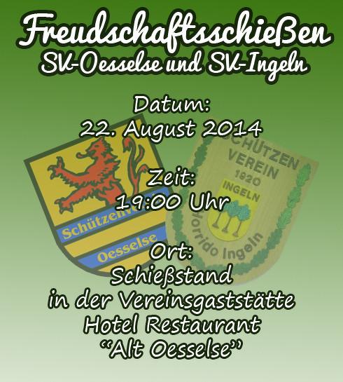 SV Oesselse, Freundschaftsschießen, www.sv-oesselse.de