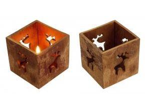 Photophore en bois de cannelier