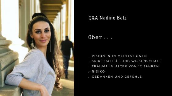 Podcastfolge 9: Q&A Nadine Balz - Warum es eigentlich kein Risiko gibt