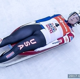 Luge - le conducteur est allongé sur le dos  (sce : Team USA)