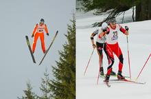 combiné nordique - saut à ski et ski de fond (sce : wikipédia)