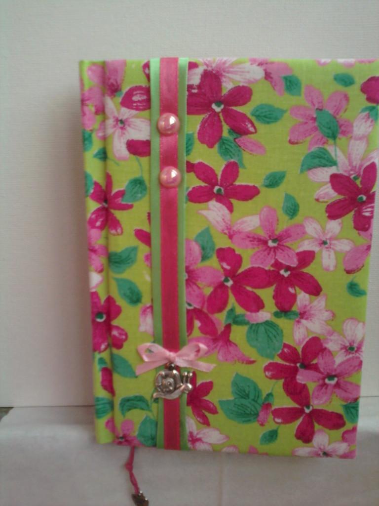 """Блокнот """"Цвет лета"""", размер А6, текстильная обложка, ленты, метал.декор"""