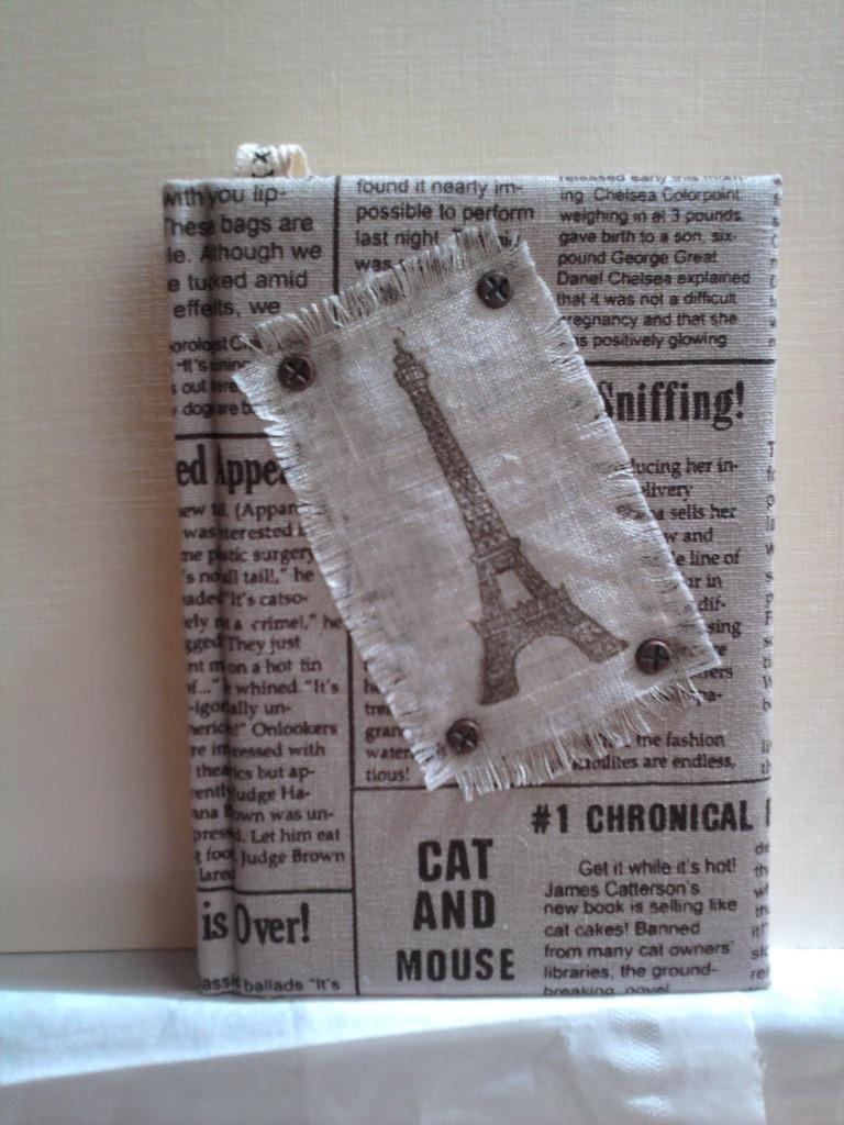 """""""Газета"""", размер А6, лен/хлопок, брадсы, штампинг"""