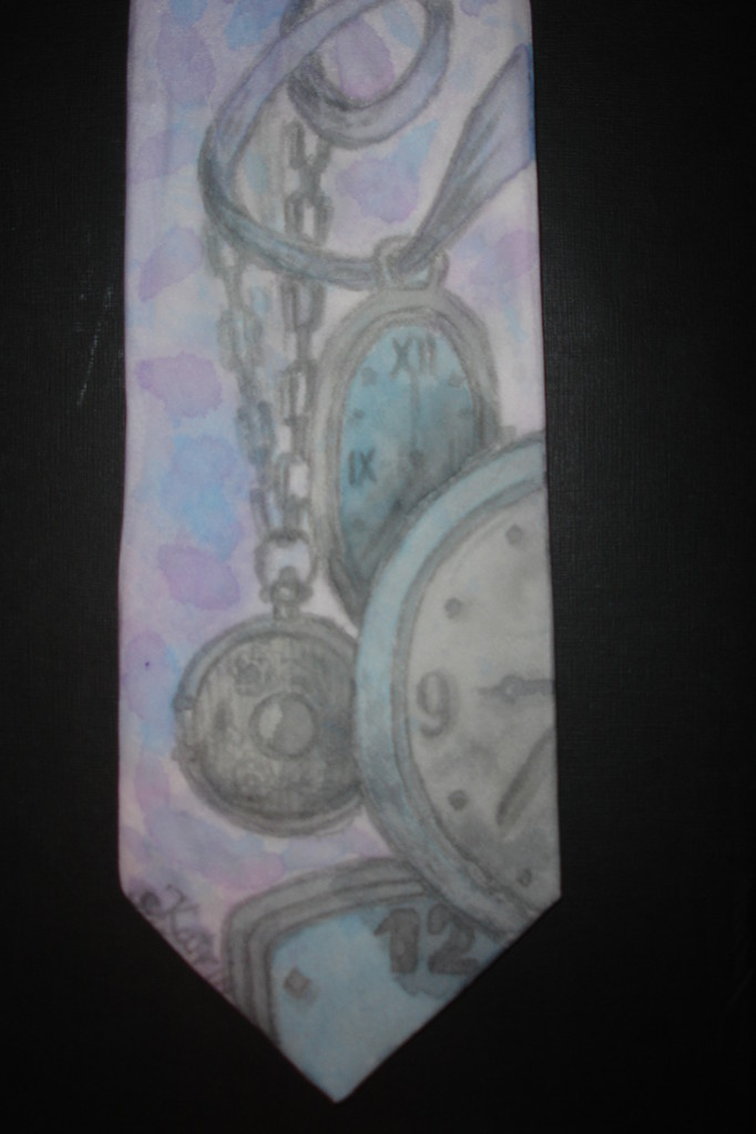 "Женский галстук ""На все хватит времени"", шелк"