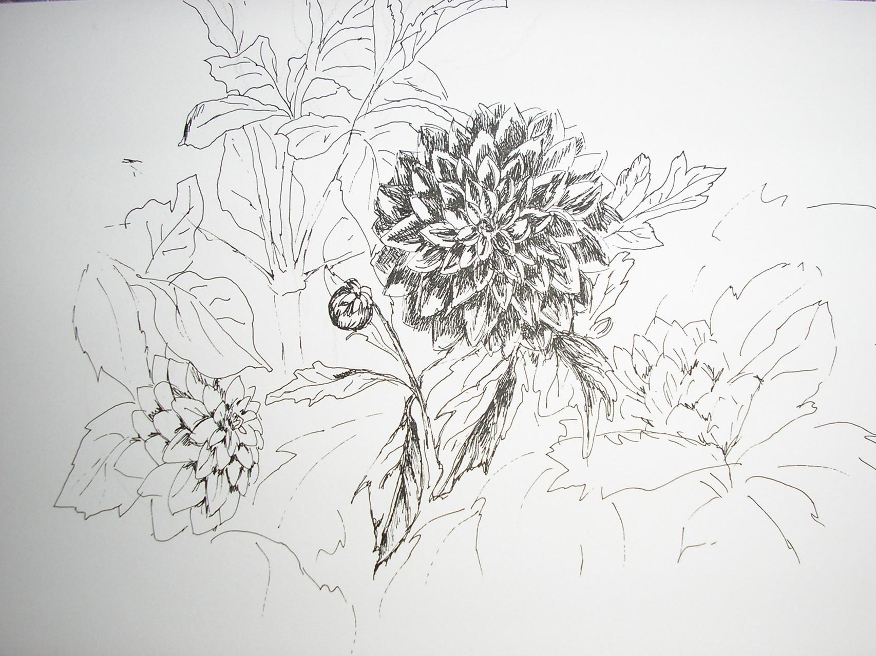 Цветок. Бумага, изограф