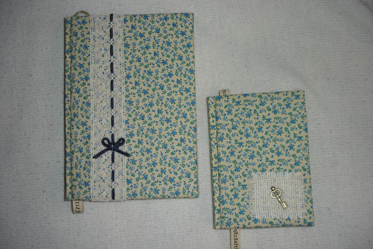 Обложки - х/б, размеры -А5 и А6, декор - кружево и текстиль, метал.декор.