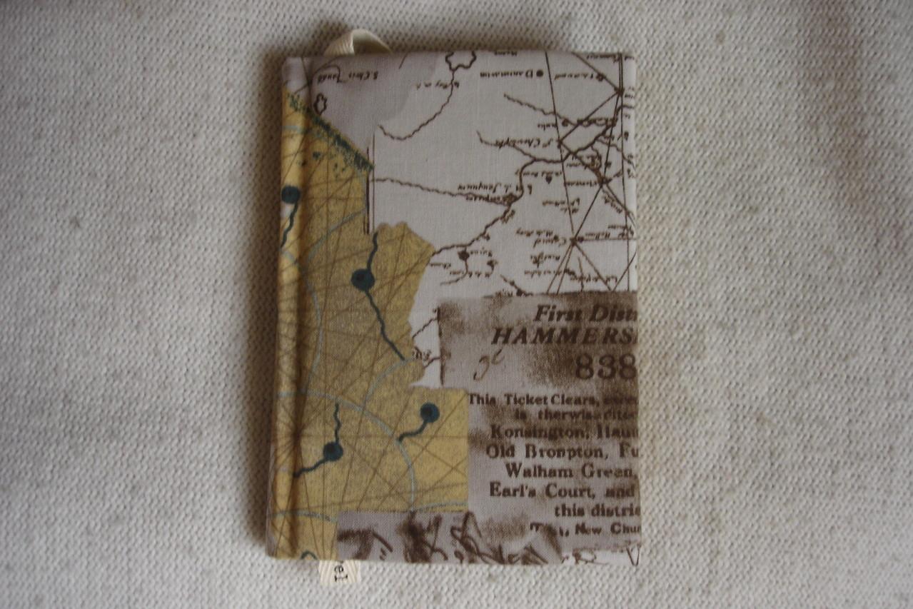 Текстильная обложка, размер А6