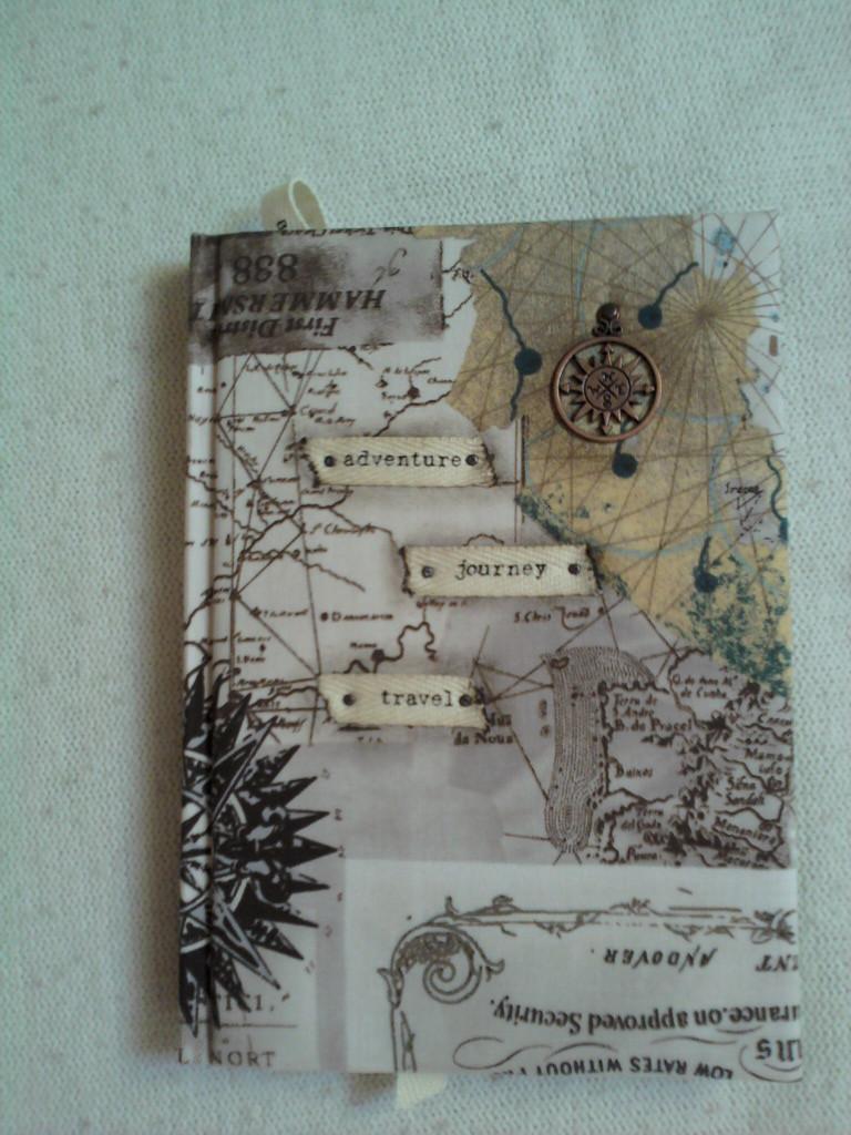 """""""Путешествие"""", А5, текстильная обложка, тесьма, метал.декор."""