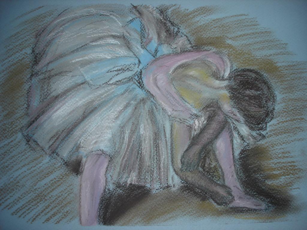 """""""Балерина"""".По мотивам Дега. Пастель, бумага"""