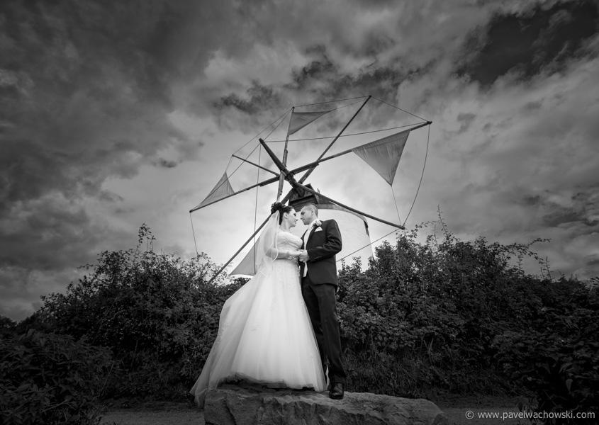 Mühle Brautpaar