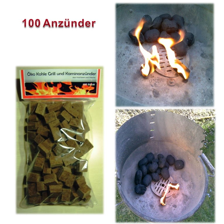 576 Anzündwürfel BBQ Grillanzünder Kaminanzünder Ofenanzünder