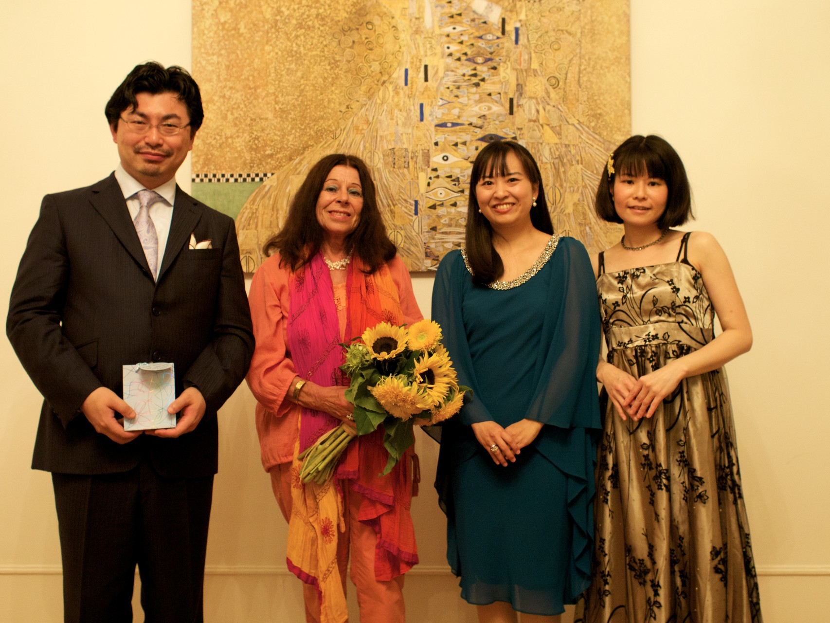 赤松林太郎(ピアノ)、Silvia Sommer(在オーストリア作曲家)、Yoshimi Zeitlinger(ソプラノ)