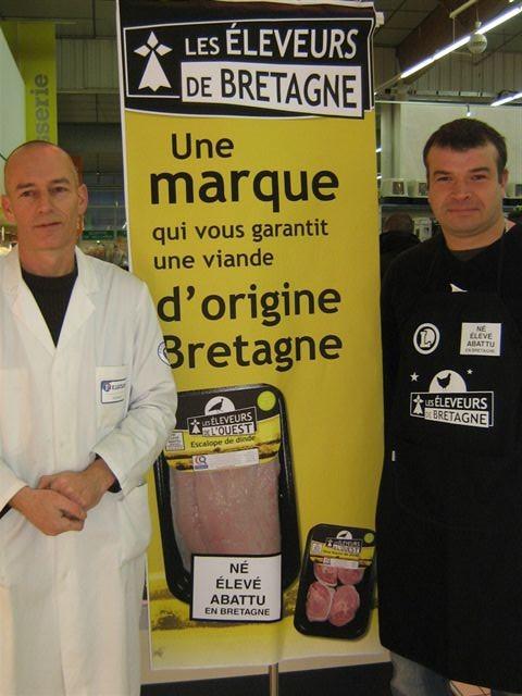 Les Eleveurs de Bretagne dans le magasin E. Leclerc Porte de Gouesnou
