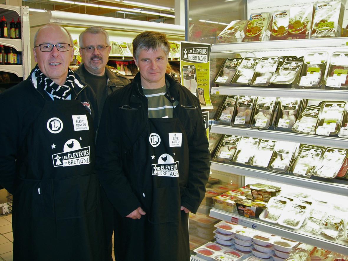 Les Eleveurs de Bretagne dans le magasin E. Leclerc de Landivisiau