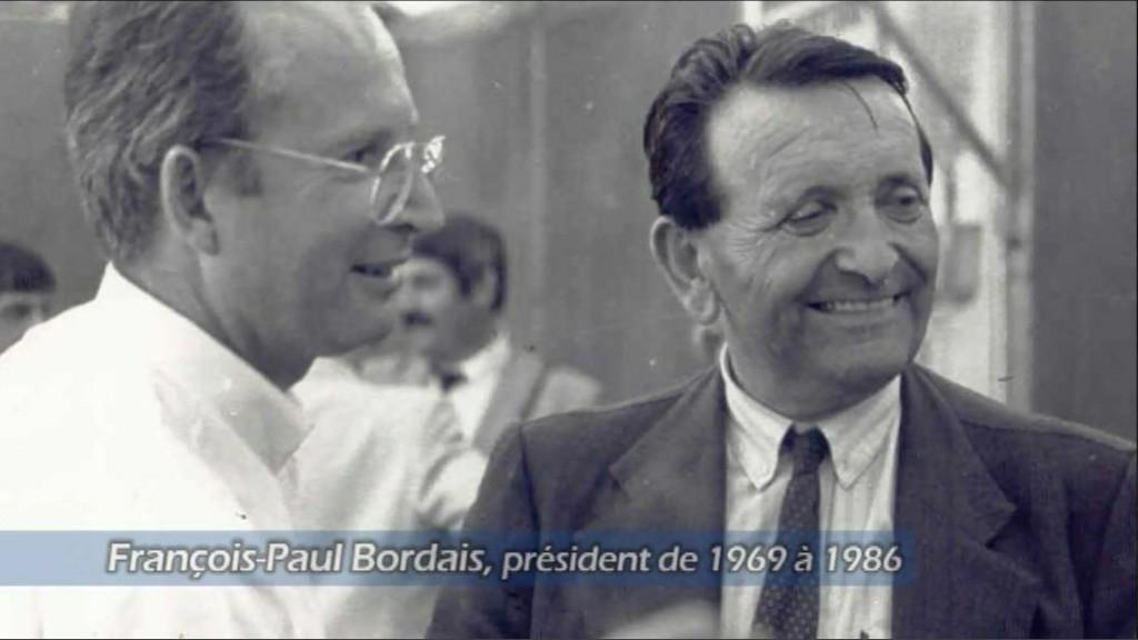 Edouard Leclerc, premier président de la Centrale et son successeur François-Paul Bordais de 1971 à 1986