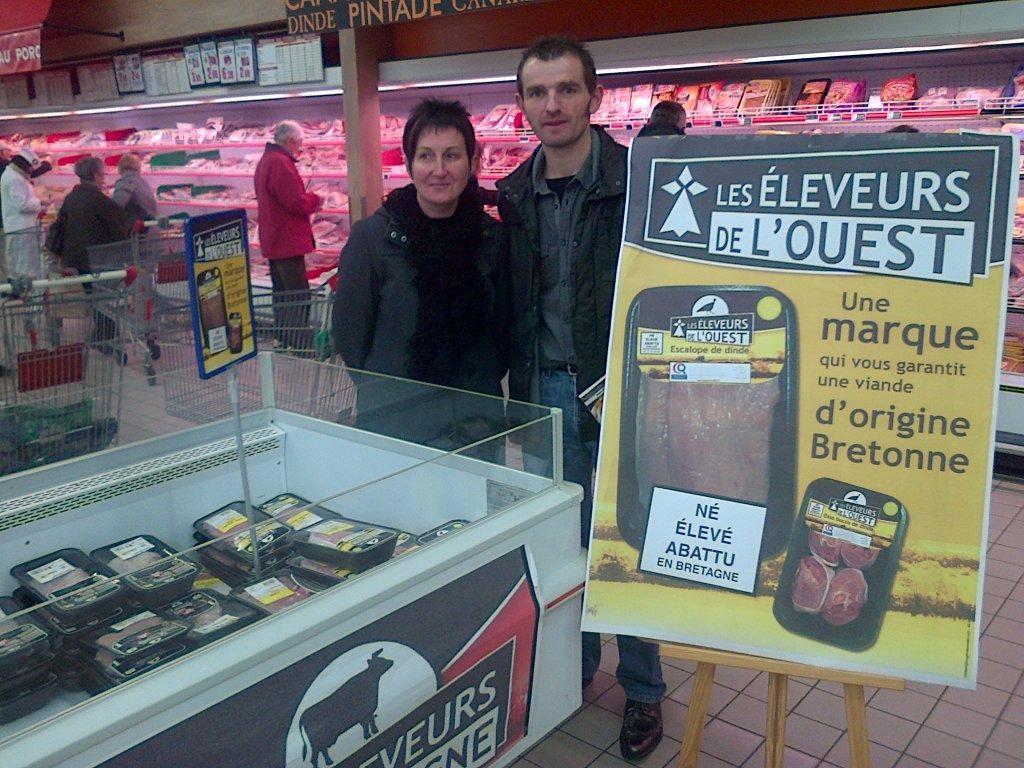 Les Eleveurs de Bretagne dans le magasin E. Leclerc de Loudéac