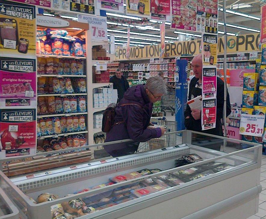 Les Eleveurs de Bretagne dans le magasin E. Leclerc de Lamballe