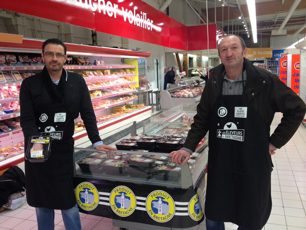 Les Eleveurs de Bretagne dans le magasin E. Leclerc de Rostrenen
