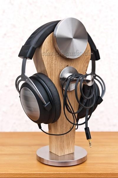 Kopfhörerständer Pharos mit Edelstahl-Zubehör