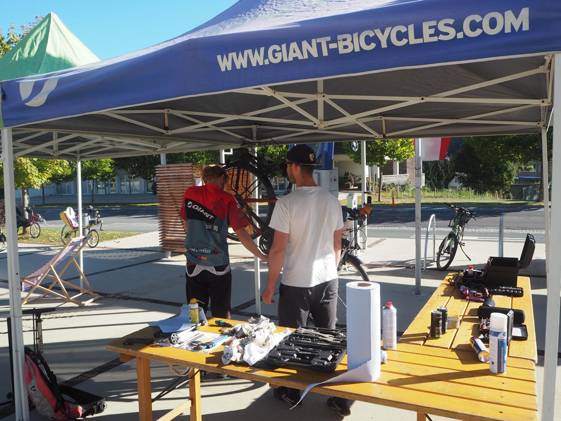 Auch giant-bicycles hatte einen Stand