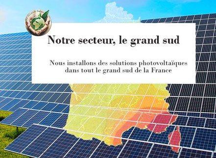 Photovoltaique solaire, le grand sud Occitanie Paca