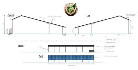 Plans hangar photovoltaique eco solution energie for Plan hangar agricole