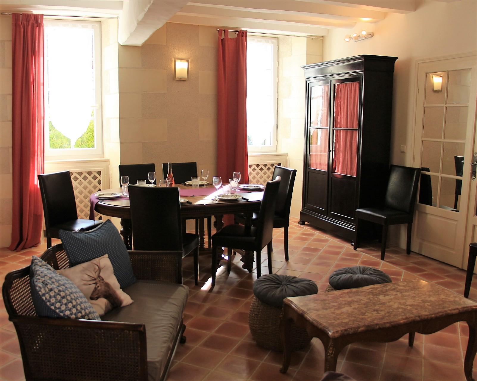 Le salon Gite de l'Amandier Chenonceaux
