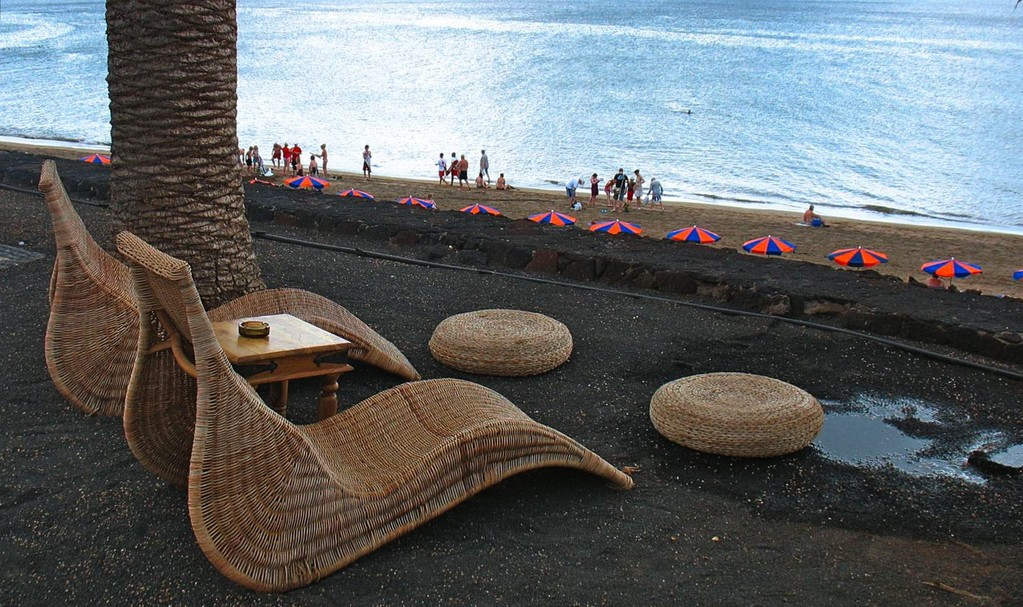 """Playa Grande,  """"Bar-Bistro Miramar"""" oberhalb des Strandes an der Promenade, Nähe Casino."""