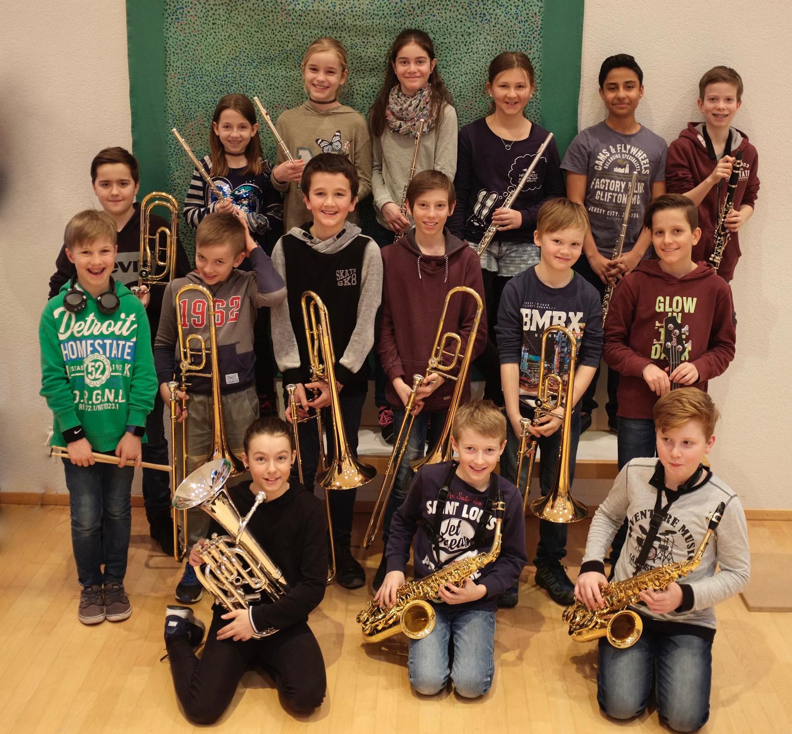 Beginnersband der Musikschule Stans