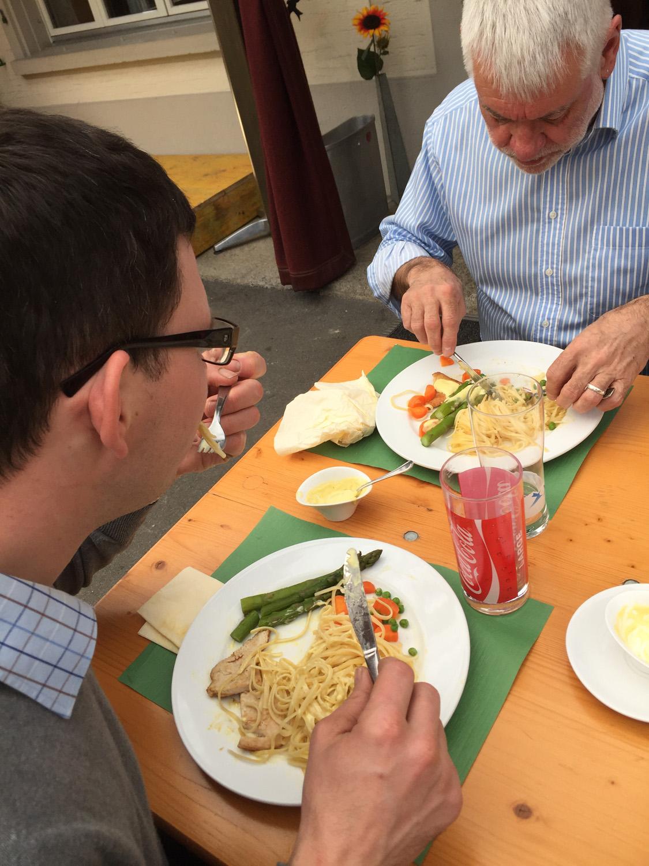 Auch das Mittagessen im Restaurant St. Jakob war superfein!