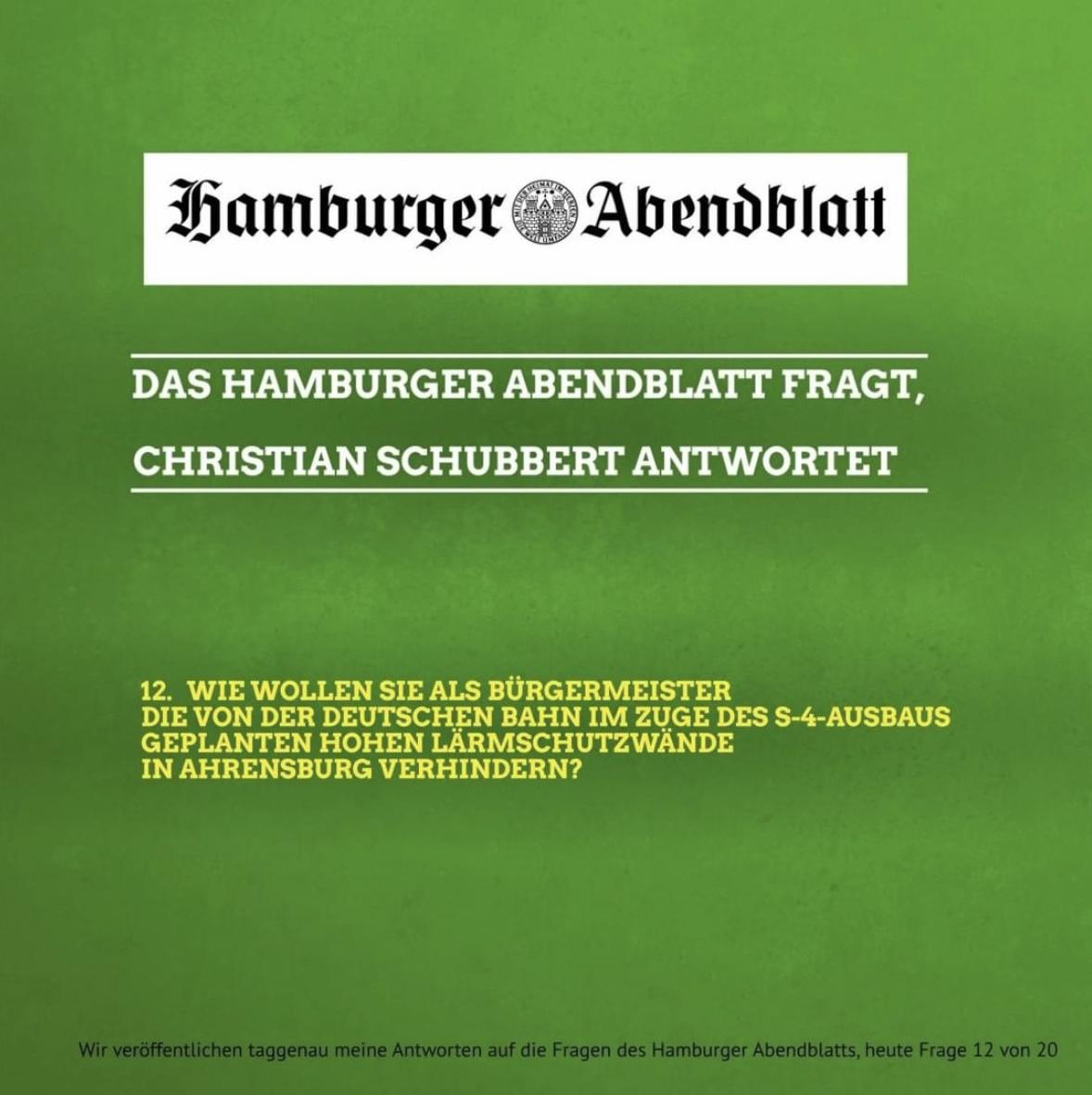 Das Hamburger Abendblatt fragt, Christian Schubbert antwortet