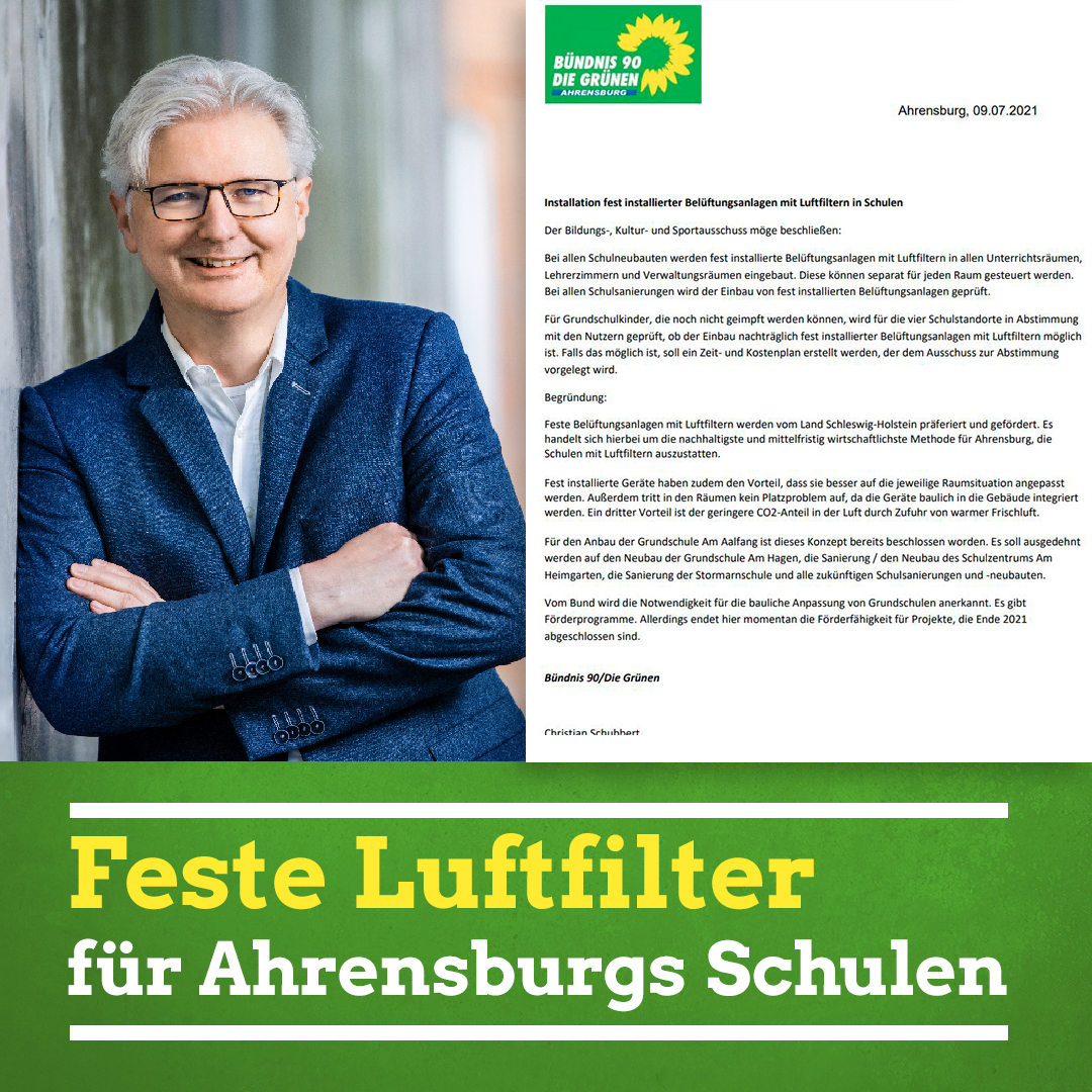 Feste Luftfilter für Ahrensburgs Schulen