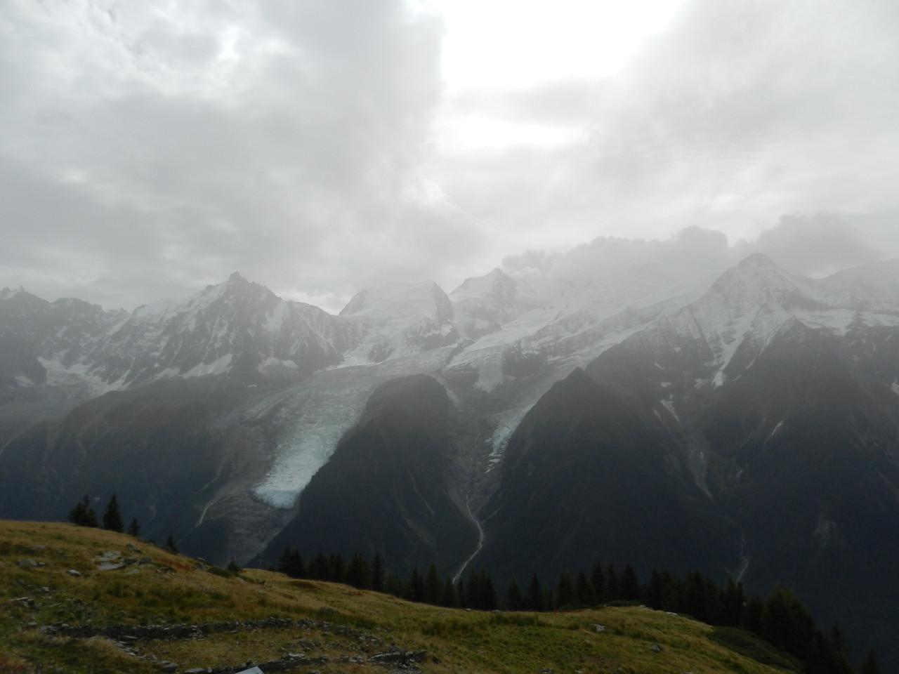 Vue sur le Mt Blanc depuis l'alpage