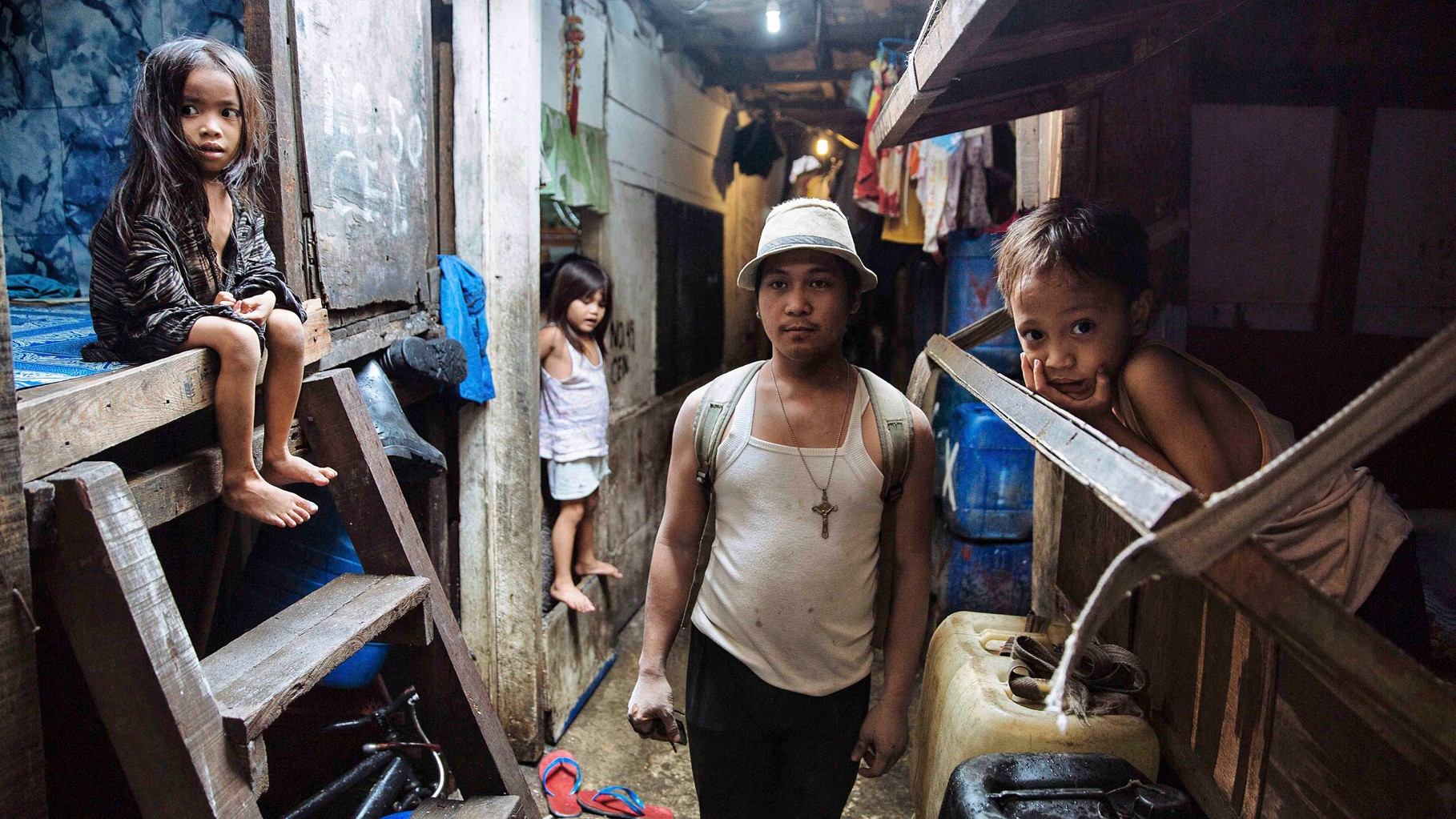 People stay in Manila, because they can find jobs, even the salary is low