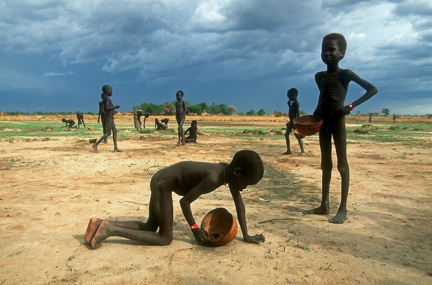 Hungersnot im Sudan - Kinder sammeln Ameisen als Nahrung
