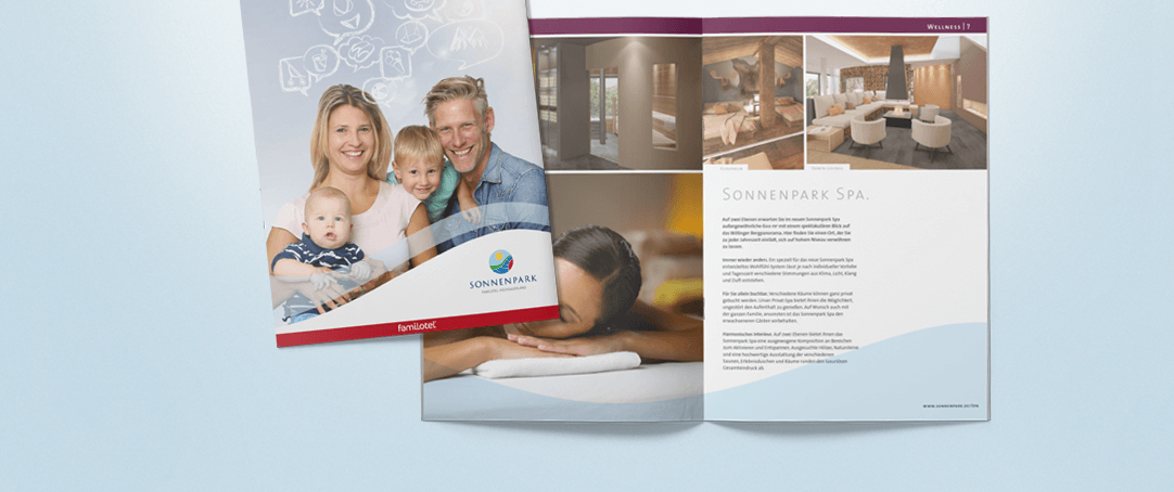 Katalog-Relaunch für das Familienhotel Sonnenpark im Sauerland (Fotos: Sonnenpark)