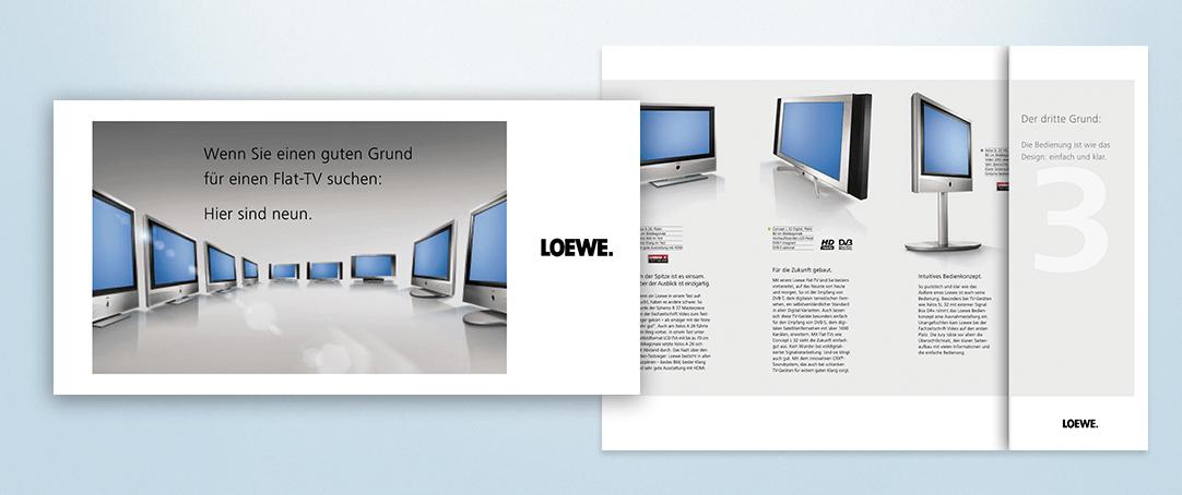 Marketingaktion für LOEWE am POS und als Händerkommunikation (Fotos: Loewe)