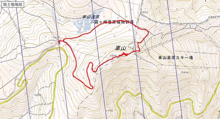 車山ルート図
