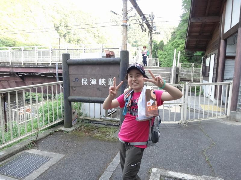 JR保津峡駅到着!お疲れさま!