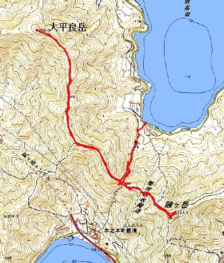 賤ケ岳コースマップ