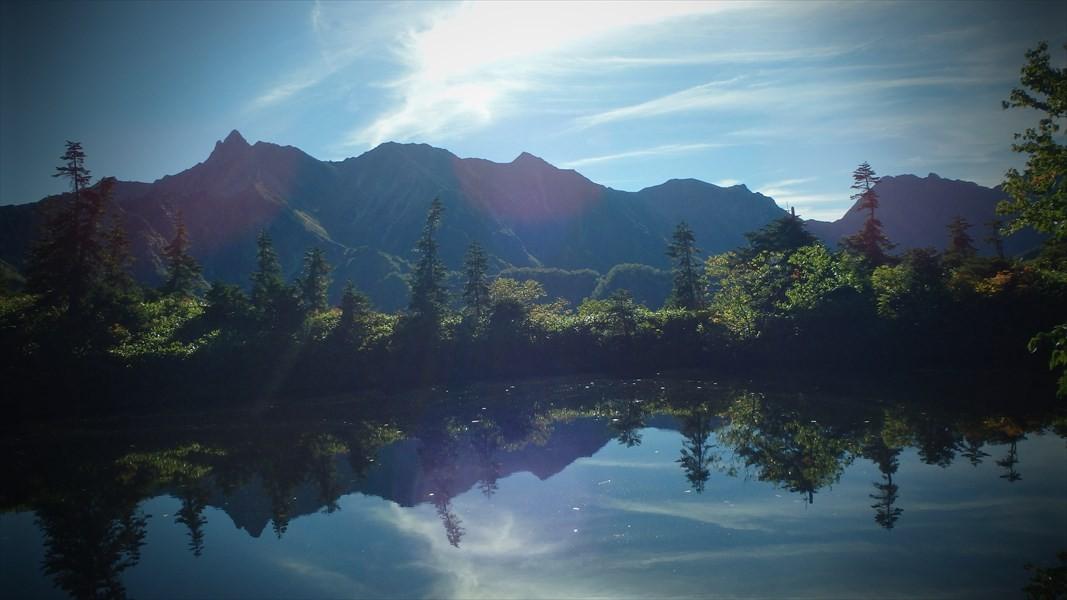 美しい鏡池に映る美しい槍・穂高