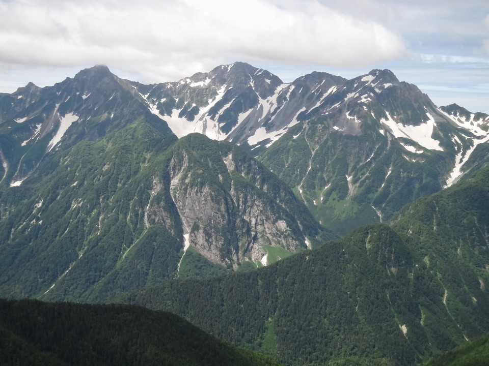 涸沢を囲む岩峰