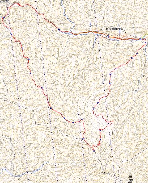 毘沙門谷とダイラ ルート図