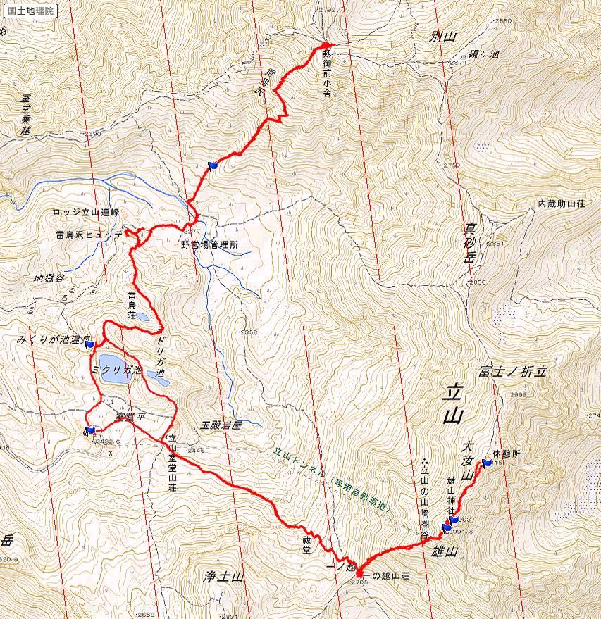 立山 ルート図