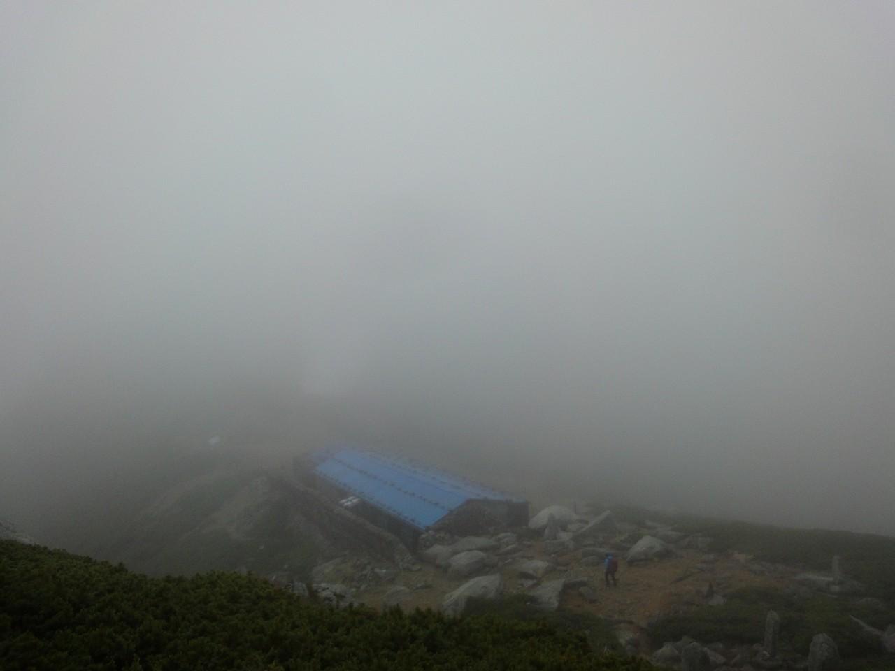 玉乃窪山荘。ここから木曽福島コースへ。