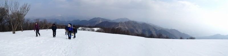 雪はしまっていて、どこでも歩けます