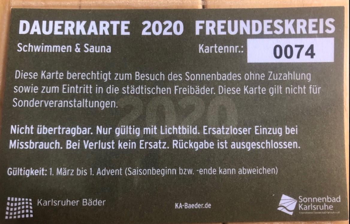 Gültigkeit Dauerkarten 2020