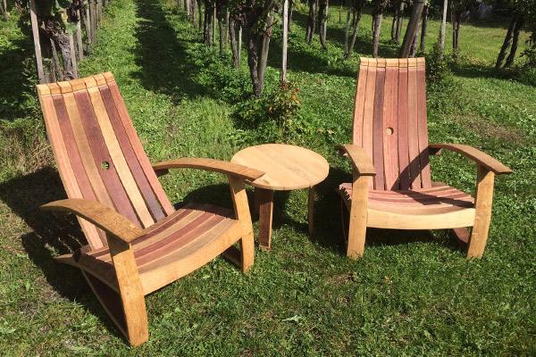Loungestühle aus Barriquefässer, Preis auf Anfrage