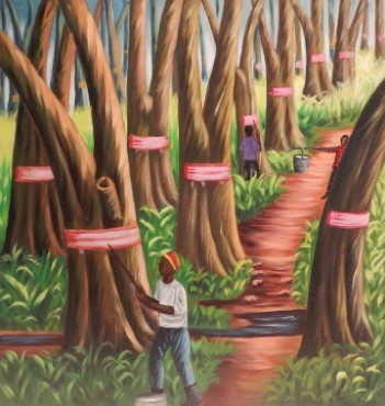 Rubber Farm, 70 x 60, 400€
